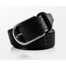 TOP 10 Factory Sell! Popular Skin belt braided Leather Fashion Man PU Belt