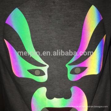 Adesivos refletivos de chapa de calor para impressão em tela na cor Aurora Rainbow