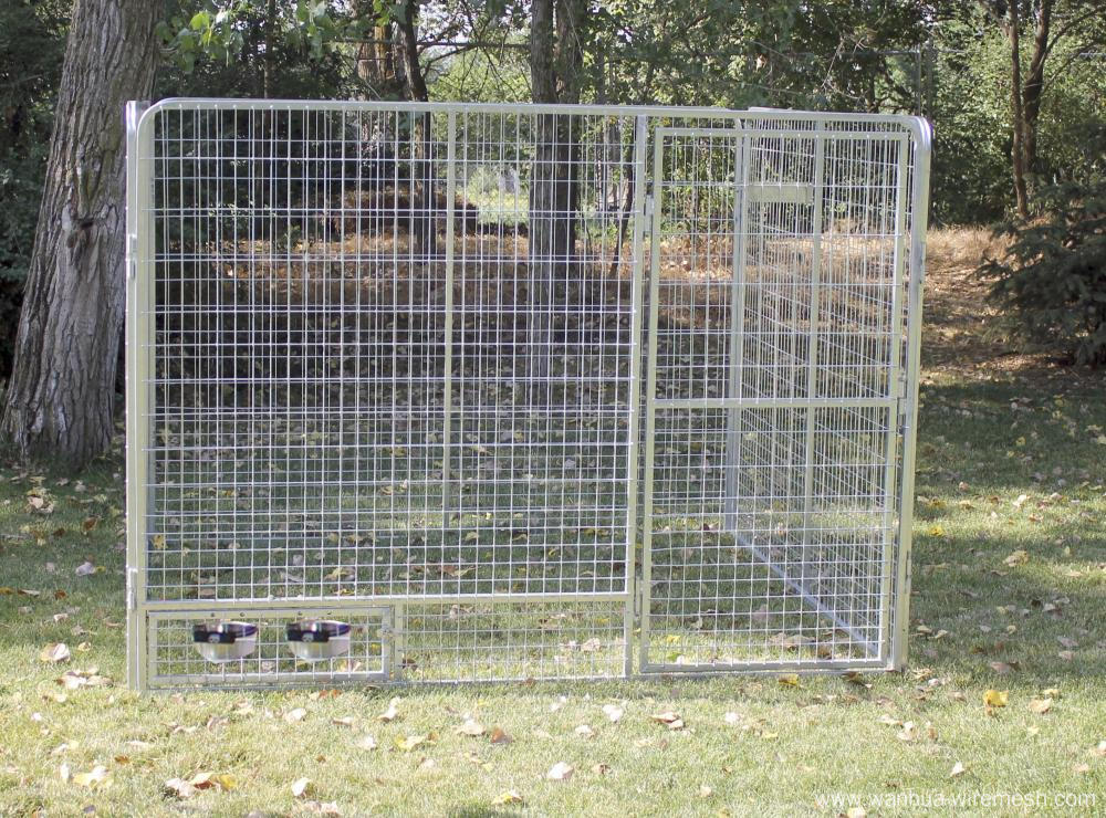 Hot dipped galvanized welded dog kennel