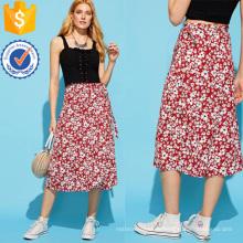 Calico impresión falda fabricación al por mayor moda mujer ropa (TA3083S)
