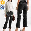 Jeans High-Rise Cropped Manufatura Atacado Moda Feminina Vestuário (TA3070P)