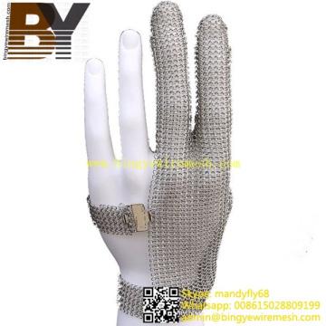 Type de bague Glove Gants en mailles de maille en acier inoxydable