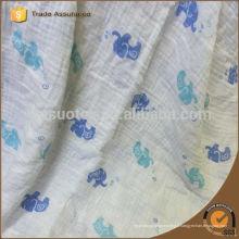 Double coton bleu éléphant modèle bébé bébé / couverture