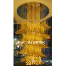 Amber Hand-made Glass Modern Hotel Ceiling lamps