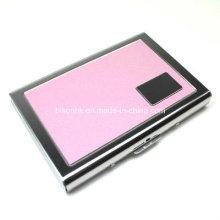 Colorful Logo Embossed Top Grain Metal Wallets for Cards