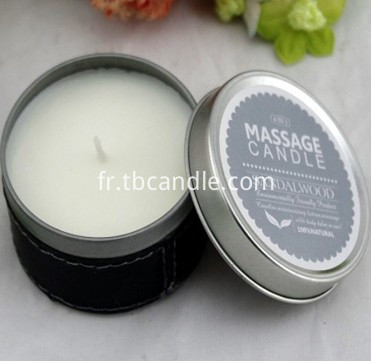 Aromatous soy wax candle--non toxic with cotton wick in tin