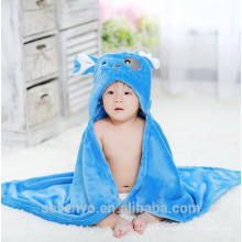 Baby hooded towel organic bamboo suppiler keep baby warm and cozy Baby bath set for kids and girls and boys wrap in blue cartoon