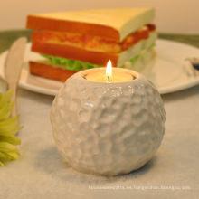Titular de vela de cerámica de té martillado