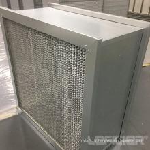 Filtre HEPA à cadre plissé profond en aluminium