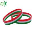 Press Three Layer High Qualitiy Silicone Wristband Bracelets