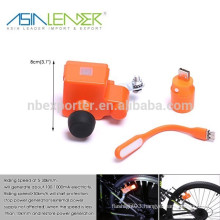 Connects Your Device via USB Port - Built-in Lithium Battery Recharges While You Pedal, Wheel-Powered Device Charger with USB P