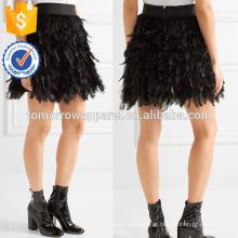 Nova Moda Embelezada Pena Tule Mini Saia DEM / DOM Fabricação Atacado Moda Feminina Vestuário (TA5112S)