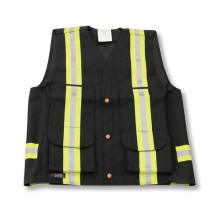 Black 600 Denier Poly Supervisor Safety Vest
