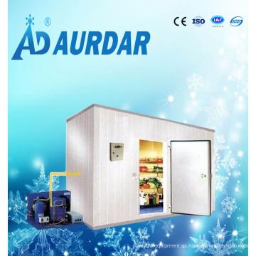 Cámara frigorífica con sistema de refrigeración de equipos refrigerados