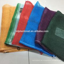 China made plastic big size leno mesh bag for firewood