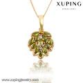 31219-fashion costume jewelry 18k gold diamond charm pendant