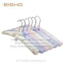 EISHO Purple Satin Padded Silk Hanger