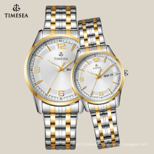 Casual Watch for Couple with 2-Tones Stainless Steel Band 70022