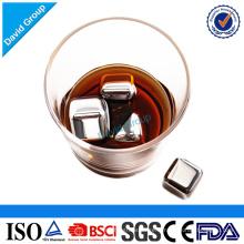 Pierres froides promotionnelles en acier inoxydable Premium whisky Forme carrée