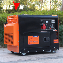 BISON CHINA TaiZhou 186f Двигатель AC Однофазный дизель 5 kva Генератор