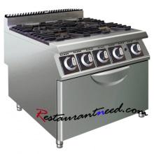 K443 Cocina de gas de 4 fuegos con horno