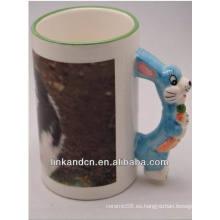 Tazas de cerámica de la manija animal encantadora de Haonai 11oz