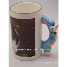 Haonai 11oz lovely animal handle ceramic mugs