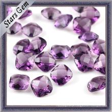Double Checker Cut Amethyst Diamante Sintético para Moda Jóias