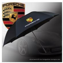 Kundengebundener Golf-Regenschirm, Regenschirm-Stangen-Regenschirm Anti-UV annoncierend.