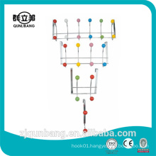 Household product metal drop hanger with colorful ceramic beads