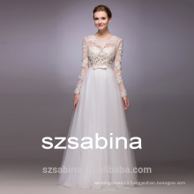 WH1019 off shoulder lace wedding dress with sleeve and floor-lengthcheap wedding dresses