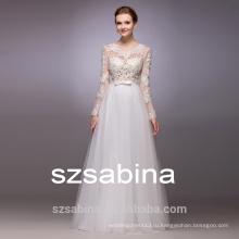 WH1019 с плеча кружева свадебное платье с рукавом и пол-lengthcheap свадебные платья
