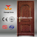 Wood face steel frame exterior doors