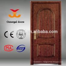 Security armored steel wooden door