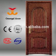 Porta de madeira blindada de segurança