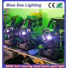 2015 nuevas luces móviles de la cabeza de 10R 280w 3in1 para la venta