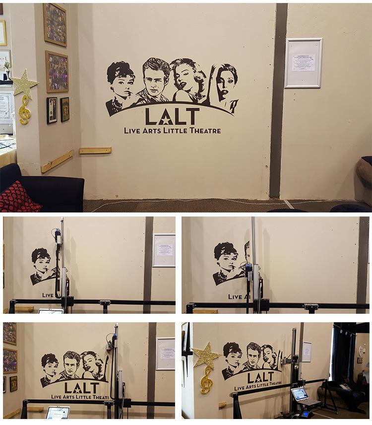wall printer effect