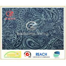 240t Tissu poly pongee d'impression de fleurs anciennes pour l'utilisation du vêtement (ZCGP057)