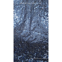 Tela de bordado de tafetán de lentejuelas completa para prendas de vestir, decoración de la boda