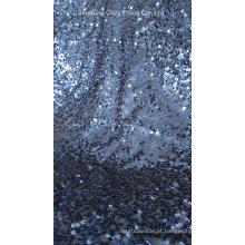 Full Sequins Tafetá tecido bordado para vestuário, decoração do casamento