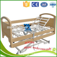 three functions Electric wooden home nursing bed hospital bed