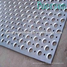 Hoja de metal perforada de aluminio decorativo de 0.14mm (fábrica + Compny)