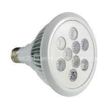 Cooling Fins on PAR38 Aluminium LED Spotlight Lamp 9W