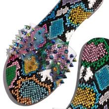 Hot Sell Beach Leisure Breathable Women Slides Rivet Shoes Colorful Sandals Platform Flat Clear PVC