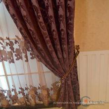 2015 la venta caliente real y la cortina simple de lujo de la cortina del diseño cortina del algodón de la ventana