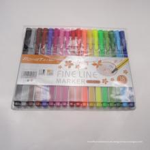 Bolígrafo sin tinción de 18 colores, marcador de líneas finas