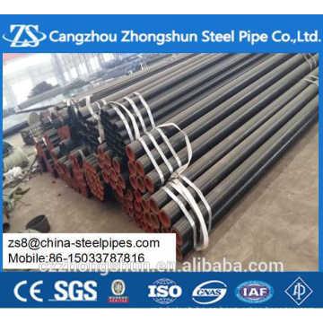 Astm a53 schedule 40 tubo de acero negro