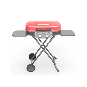 2-pits draagbare gasgrill met trolley