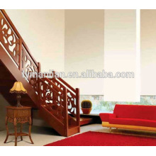 Handlauf aus roter Eiche Doppeltürige Luxus-Massivholztreppen
