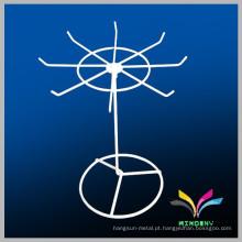Novo design moderna rotação de metal wire countertop prateleira de exibição para jóias